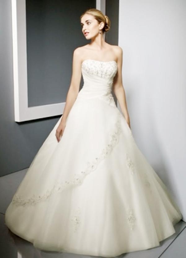 váy cưới cho cô dâu có dáng người thấp